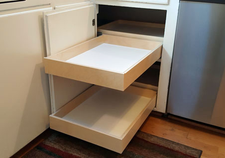 Blind Hidden Corner Cabinet Rollout Sliding Shelves