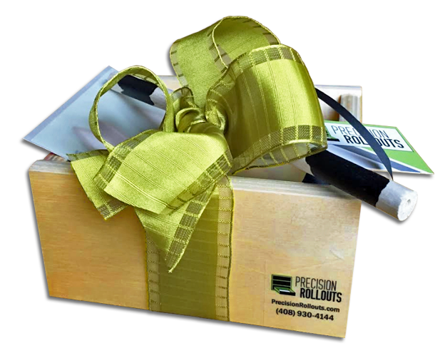 Rollout shelf gift boxes